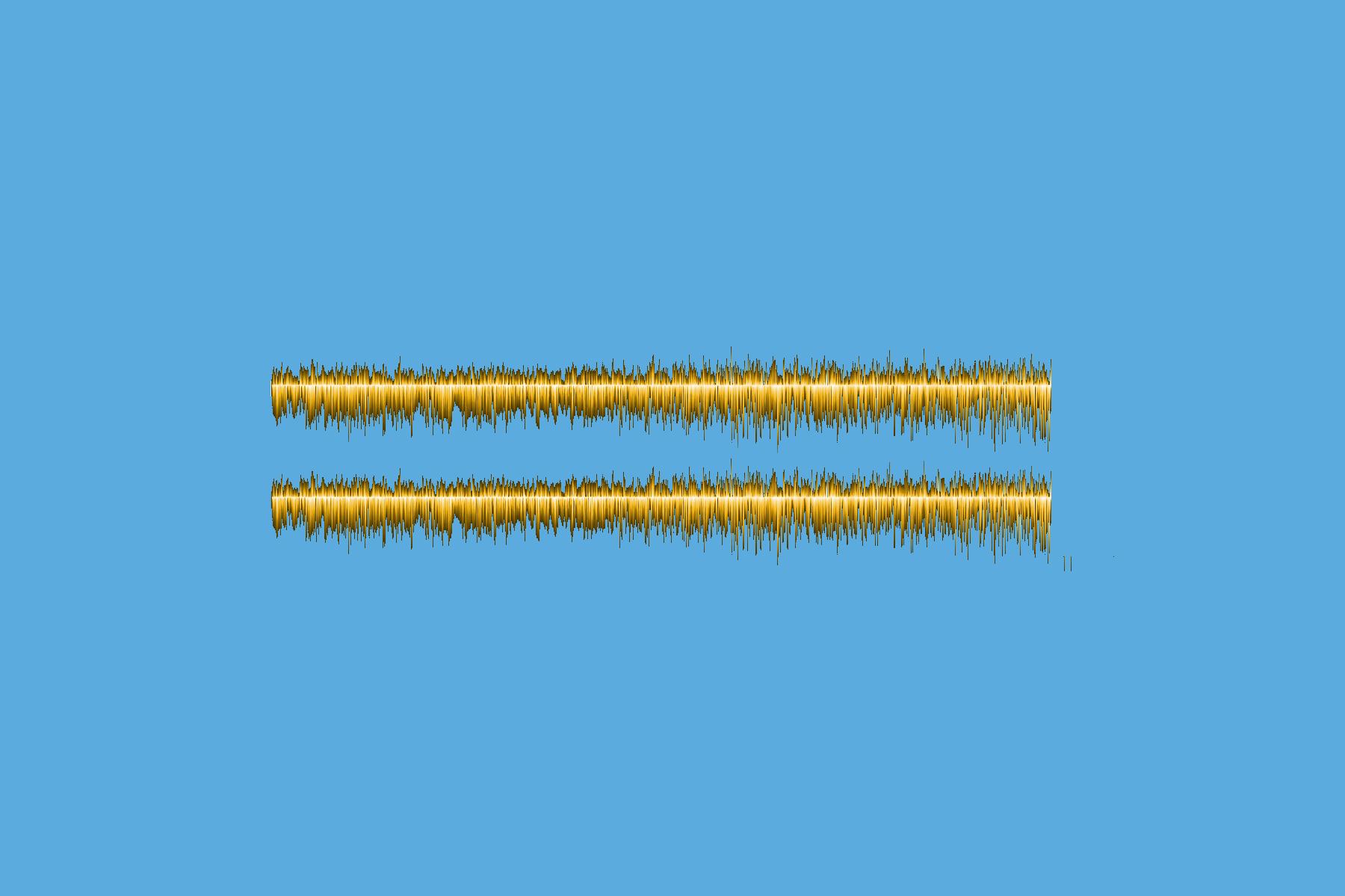 Digitaalisessa piirroksessa on kaksi ääniaaltoja kuvaavaa käyrää sinisellä pohjalla.